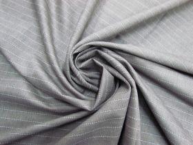Etching Stripe Stretch Wool Blend #5815