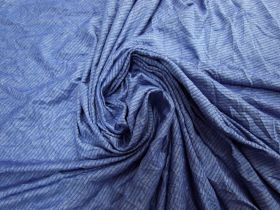 Blue Illusion Stripe Jersey #5836