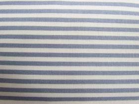 4mm Stripe Cotton- Grey / Cream #PW1096