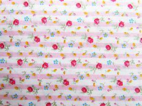 Sweet Flower Stripe Cotton #PW1107