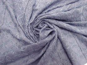 Beaded Silk Georgette- Hydrangea Purple #5841