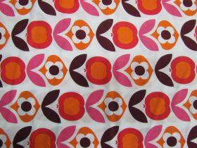 Apple Flower Cotton- Red #5848