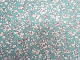 Liberty Cotton- Fruit Silhouette- Blue- The Orchard Garden Collection