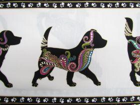 Dog On It Cotton- Dog Stripe- Walk #4396