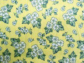 Summer Floral Cotton- Lemon #PW1062