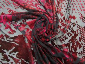 Silk Blend Devore Velvet- Mysterious Red #5869