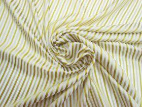 Lightweight Brocade Stripe Silk- Chartreuse Gold #5871