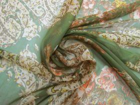 Autumn Rose Silk Chiffon #5886