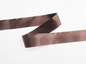 36mm Single Fold Satin Bias- Chocolate Sauce #697