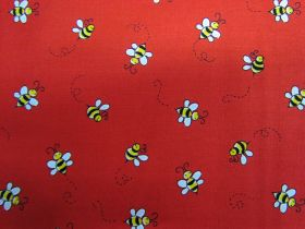 Bumble Bee Cotton- Red #A9715R