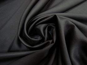 Silk Ottoman- Smooth Black #5907