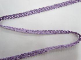 Baby Ripple Scallop Stretch Trim- Purple