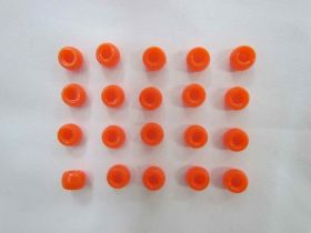 Orange Beads- 20 for $1.50- RW136