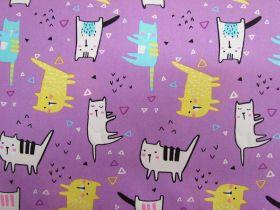Cool Cat Cotton- Purple #PW1131