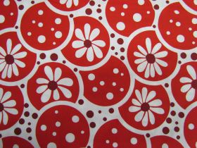 Daisies and Dots- Red Circle Flower
