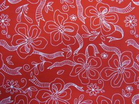 Daisies and Dots- Red Ribbon Flower