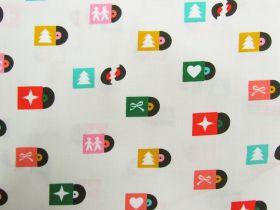 Ruby Star Society Cotton- Flurry- Christmas Tunes- Shell #11
