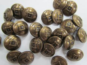 21mm Domed Metal Fashion Buttons FB155