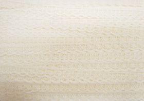 13mm Delicate Floral Lace Trim- Cream #144