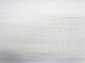 13mm Delicate Floral Lace Trim- White #148