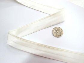 20mm Satin Bias Tubing- Ivory