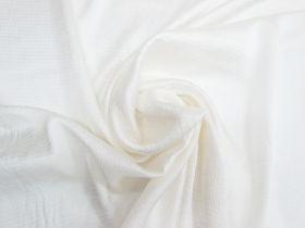 Crinkle Stripe Satin Viscose- Pearl Cream #4510