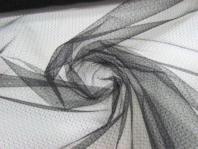 Flower Tulle Net- Black #4513