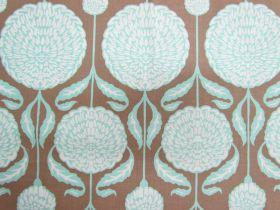 Birch Farm Cotton- Chrysanthemum Blooms- Burlap
