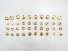 Gold Press Fastener Studs- 15mm- 10 for $4- RW271