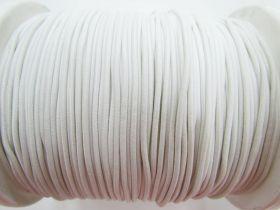 2mm Round Elastic- Cream White #471