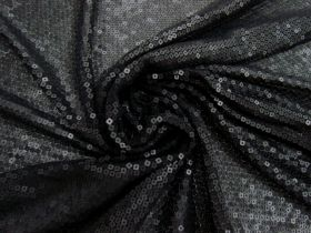 Embroidered Sequin Mesh- Black #4572