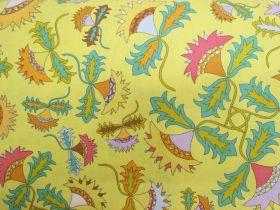Folk Art Revolution Cotton- Knotted Thistle- Pretty