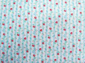 Rosie Stripe Cotton- Blue #PW1059