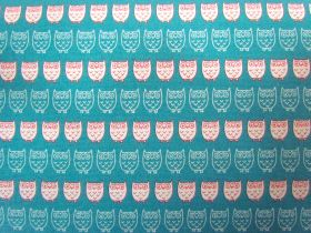 Kokka Owls- Cream on Blue