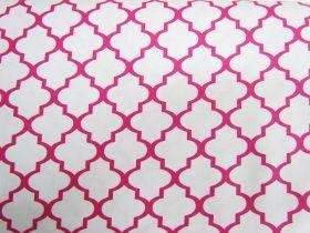 Quatrefoil Cotton- Pink #4602