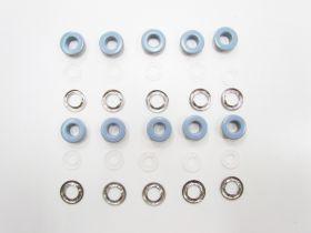 17mm Designer Eyelets- Blue RW275- 10 for $3