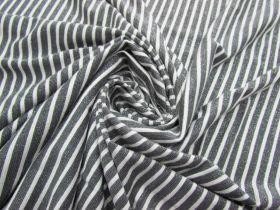 Glitter Finish Stripe Jersey- Grey #2660