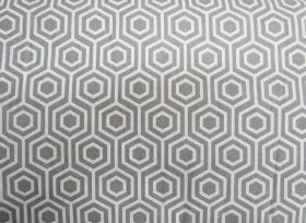 Hexagon Cotton- Grey #PW1025