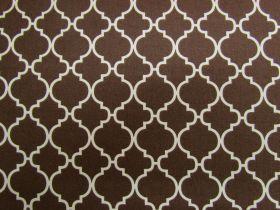 Quatrefoil Cotton- Brown #PW1151