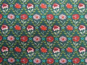 Liberty Cotton- Kew Trellis- Green- The Summer House Collection
