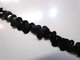 Stretch Sequin Trim- 1 Row- Black