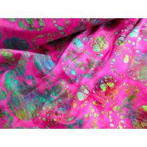 Rainbow Serpent Batiks- Firey Pink