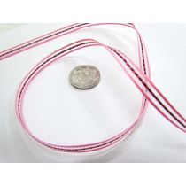 Georgie Ribbon 6mm- Pink/Red
