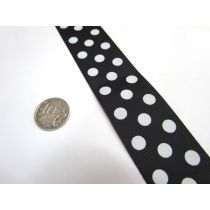 Spots Ribbon 38mm- Black