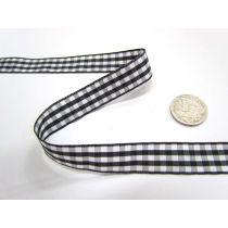 Gingham Ribbon 15mm- Black