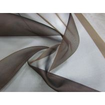 Silk Organza- Mocha Brown