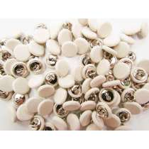2 for $1.00 Fabric Covered Fashion Buttons- Cream FB088