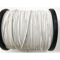 3mm Bungee Cord Elastic- White #3840