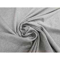 Unbrushed Fleece Knit- Grey Marle #4691