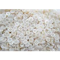 10mm Pearl White Fashion Buttons FB156- 10 Button Bundle
